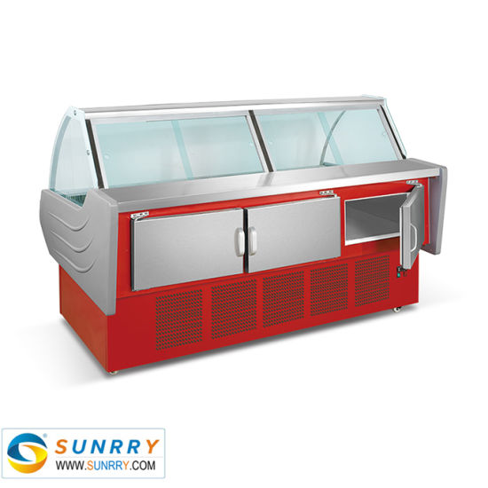 Commercial Restaurant Glass Display Meat Deli Chiller Counter