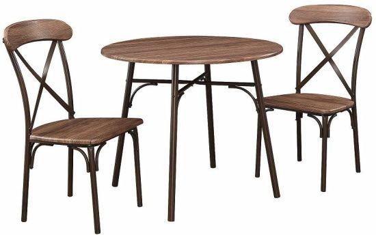 Unihomes Kitchen Table Set 3 Piece
