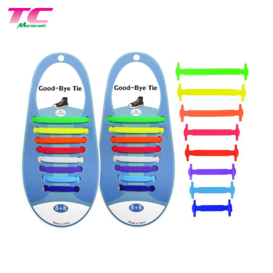 Best Choice Premium Gift Elastic Shoestring Wholesale Flat Silicone Lazy Shoelaces