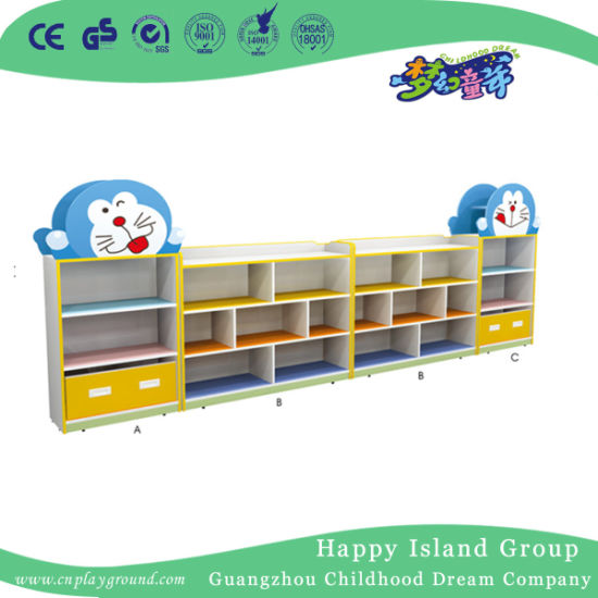Kindergarten Doraemon Shaped Toy Storage Cabinet for Kids (HJ-6603)