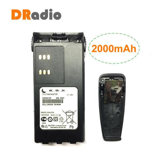 Hnn9013D 7.4V 2000mAh Li-ion Battery for Motorola Walkie Talkie Ht750 Ht1550 Gp140 Gp320 Gp328 Gp338 Gp340 Gp360 PRO5150 Radio