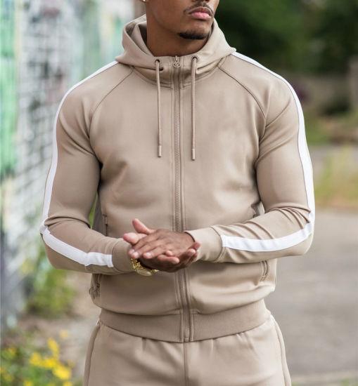 Men's Fleece Jacket and Joggers Pants Sweat Hoodie Tracksuit