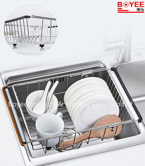 Extensible Kitchen Over The Sink Dish Drainer Sink Dish Drying Rack