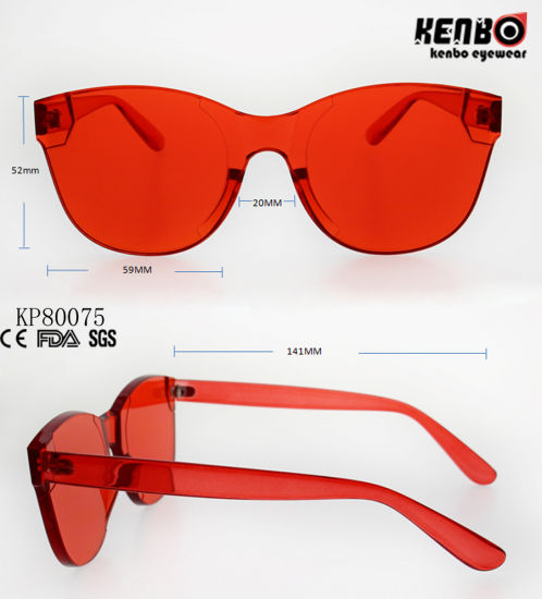 8a8e1de7b54c Fashion Rounded Muti-Colored Plastic Sunglasses with One Piece Lens Kp80075