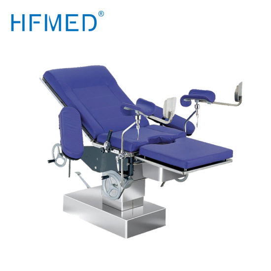 Ce Manual Hydraulic Delivery Bed Gynaecological Obstetrics Operating Table with Crank (HFMPB06B)