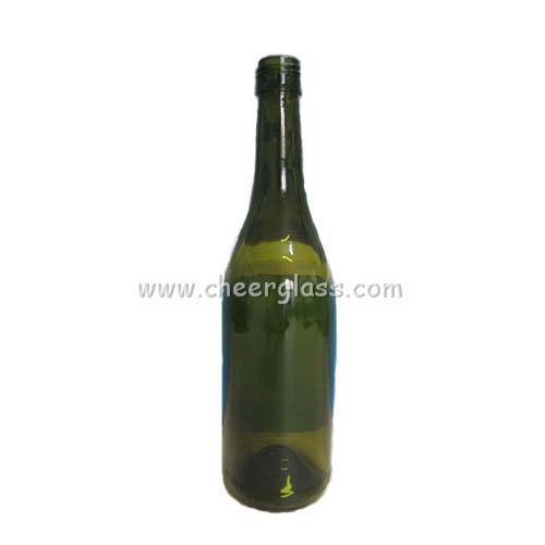 750ml Dark Green Color Glass Wine Bottle Burgundy Bottle