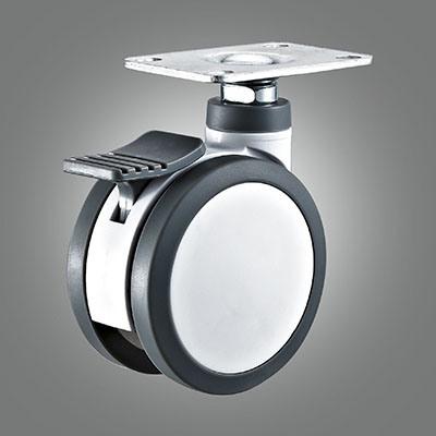 Swivel 100mm TPU Hospital Bed Wheel Castor with Brake