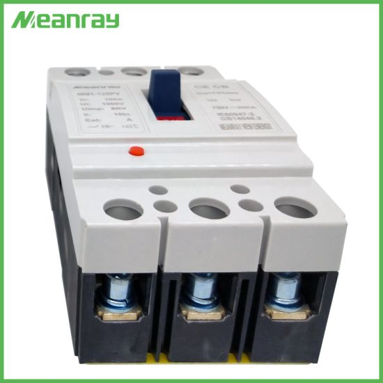 Photovoltaic MCCB 3p 1200V 125A Air Switch Used for PV System