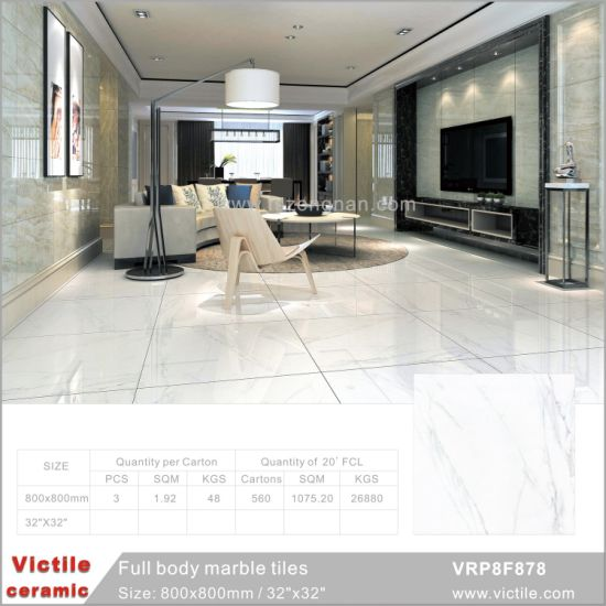 China Carrara White Glazed Building Material Full Body Marble Floor - Carrara marble tile sizes