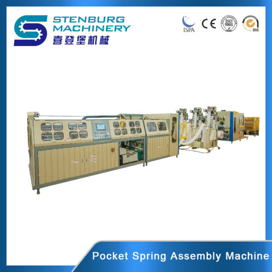 Fully Automatic High Speed Mattress Pocket Spring Assembler/Assembling/Assembler/Assembling/Assembly/Gluing/Making/ Zoned Tape/ Three Path Mattress Machine