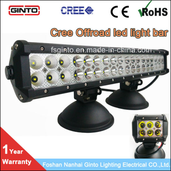 12V 24V Dual Row CREE LED Work Light Bar for Truck, Jeep, Offroad 17inch