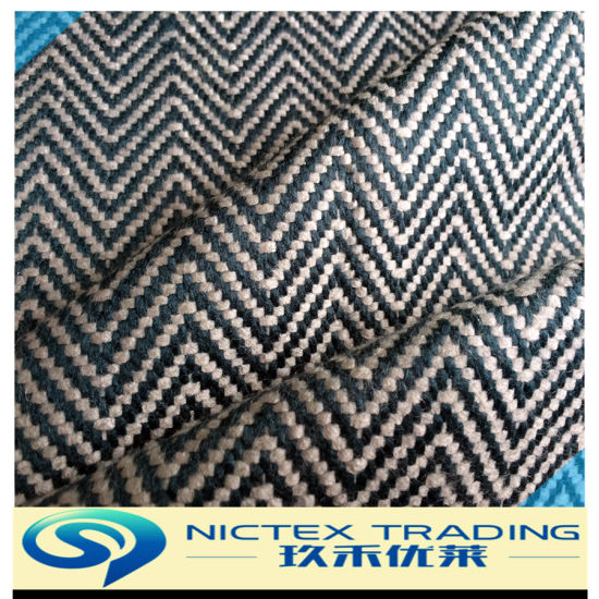 Herringbone Tweed Blue White Fabric for Car for Australia Market