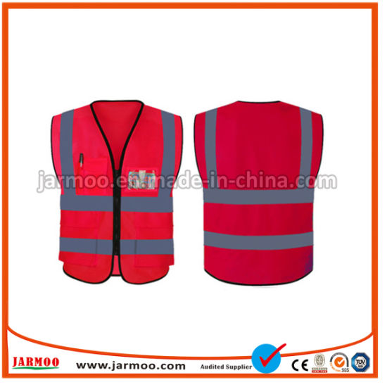 High Visibility Flame Retardant Traffic Roadway Reflective Clothing Volunteer Reflective Safety Vest Construction Work Wear Sports Protection Vest Coverall