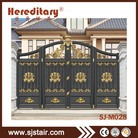 China Modern Gray Color Aluminum Main Entrance Gate Design With