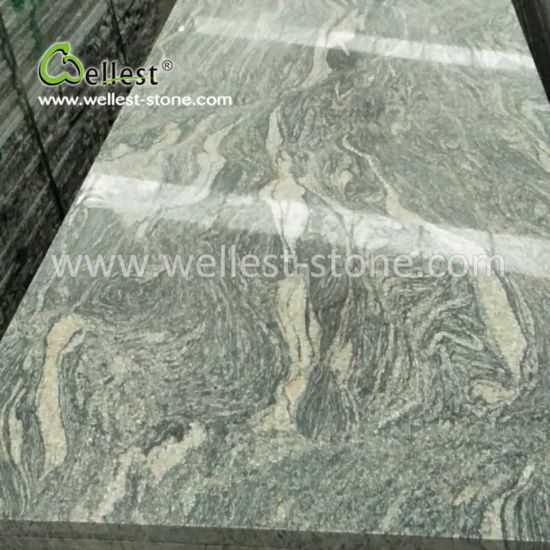 China Wholesale Grey Granite Small Slab for Countertop Kitchen Top
