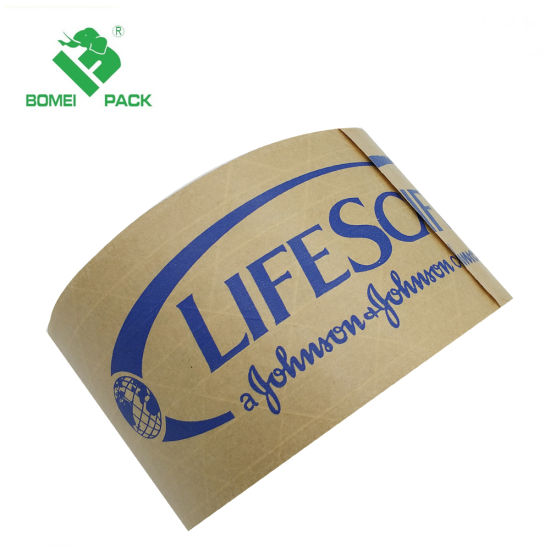 Self Adhesive Kraft Paper Gummed Tape with Company Logo Print pictures & photos