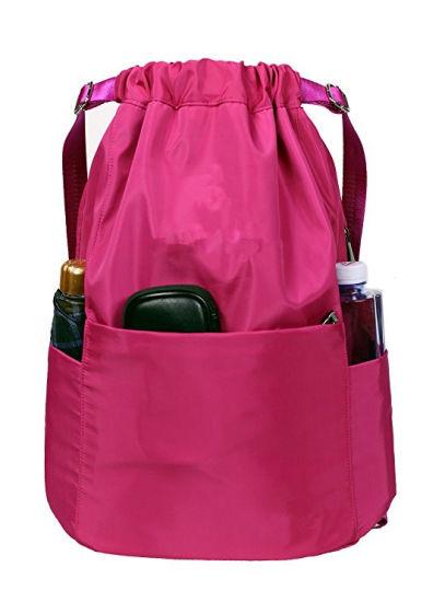 161816e9ba9b Drawstring Backpack String Bag Sports Waterproof Sackpack Gymsack Gym Bag  pictures   photos