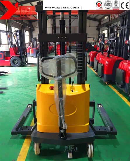 Electric Forklift Pallet Lifter 1ton 3.5m Semi Electric Stacker Price