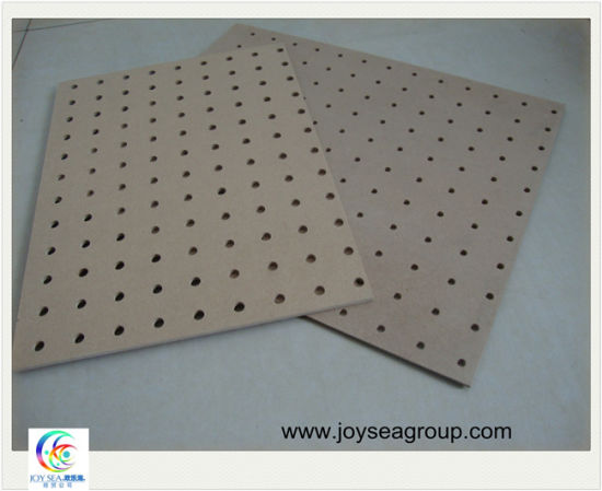 Melamine Holed MDF Sheet for Furniture or Decoration pictures & photos