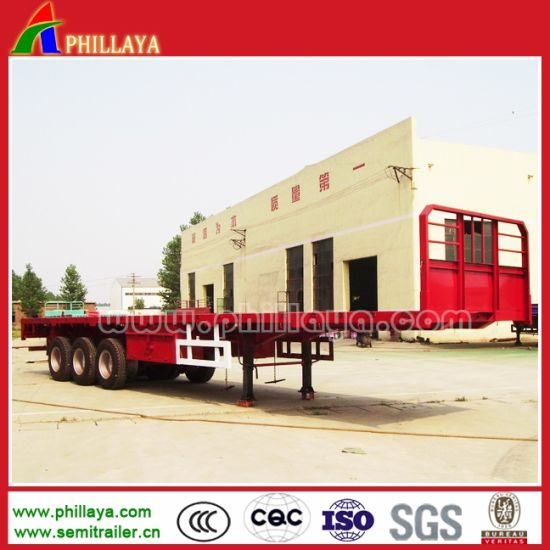 2-3 Axle Truck 50-60ton 40′ Container Flatbed Truck Semi Trailer pictures & photos