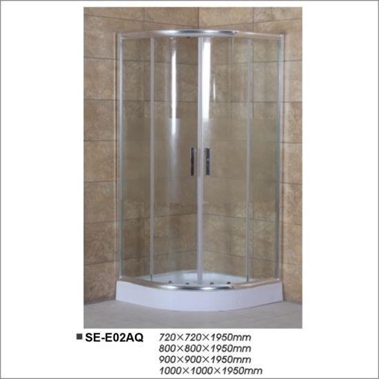 Hangzhou Corner Simple Tempered Glass Bathroom Simple Shower Room