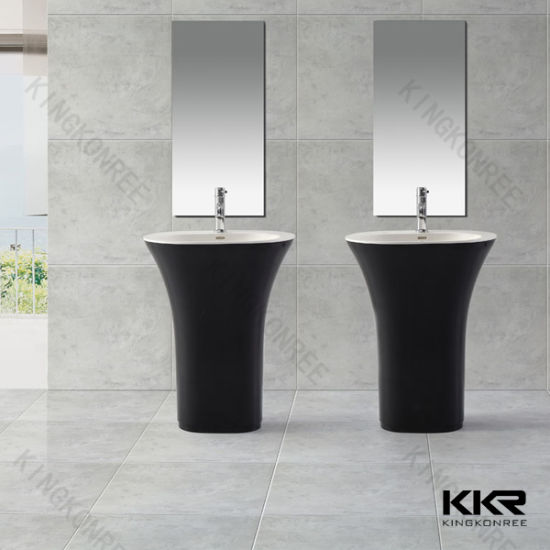 Modern Solid Surface Bathroom Freestanding Sink