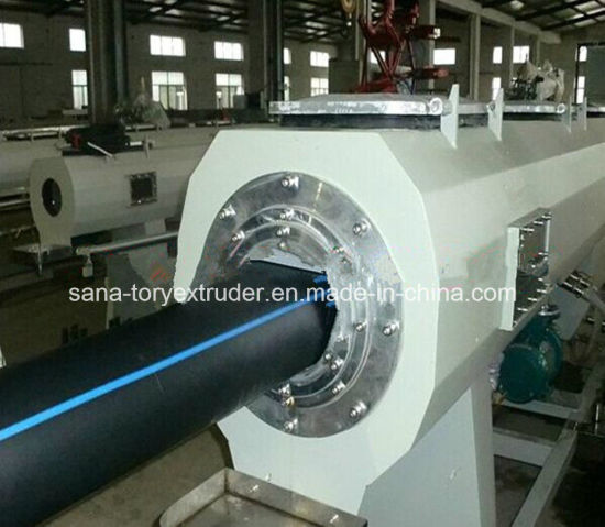 China hdpe large diameter pipe production line plastic