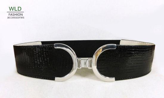 Big Buckle Fashion Elastic Wasit Belt Ky5021
