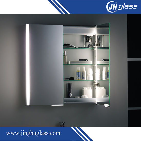 China Pvc Material Bathroom Mirror Medicine Cabinet With Led