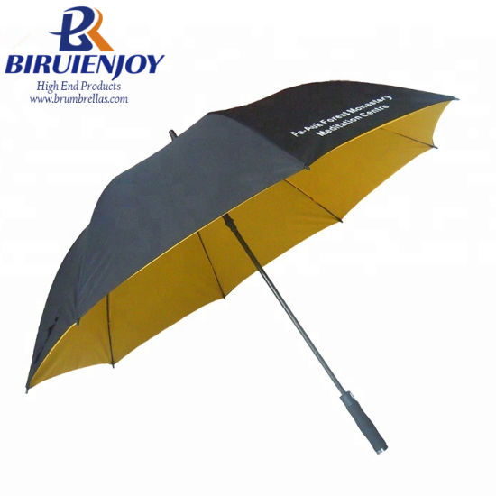 "Double Canopy Oversize Automatic Straight Golf Umbrella 30"" with Custom Logo"