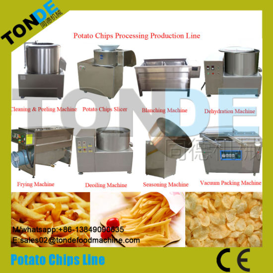 30/60/100/200kg/H Semi Automatic Gas Heating Potato Chips Processing Line pictures & photos