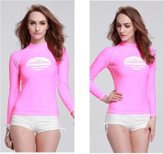 China 2016 Hot Sale Lady′s Long Sleeve Swimwear Pink Wetsuit (CL-724 ... 172f7333b