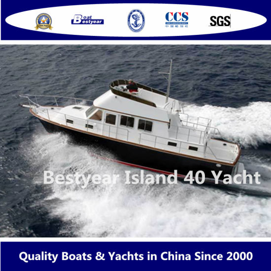 Bestyear 40FT Fiberglass Luxury Yacht of Island 40 Boat with Top Console pictures & photos