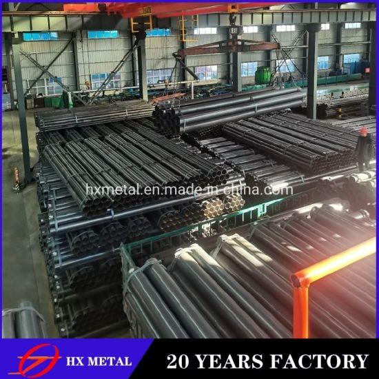 China Black Round Steel Pipe Black Iron Brackets Tube