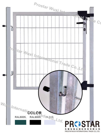 Fence Gate, Iron Gate, Garden Gate, Rectangular Post Gate, Single Wing Gate, Hot Dipped Galvanized