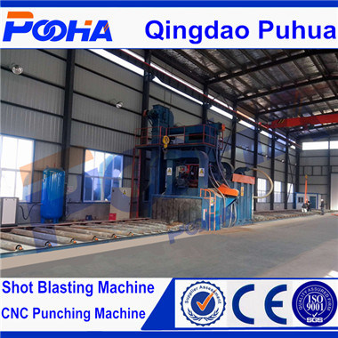 H Beam Roller Conveyor Wheel Shot Blasting Machine Steel Profiles Machine pictures & photos