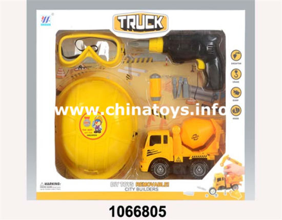 Hot Sale Toy Plastic Toys DIY Friction Construction Car (1066803) pictures & photos