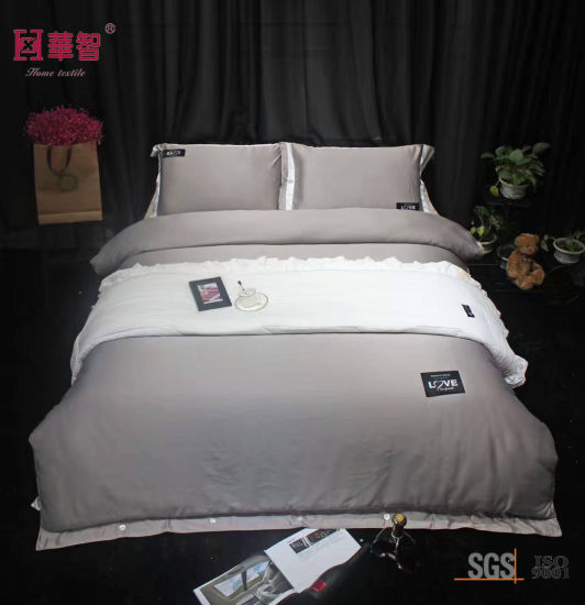 Queen Size Silk Solid Color Bed Sheets pictures & photos