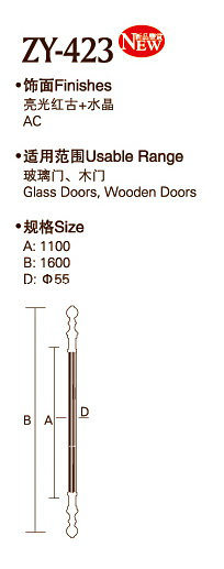 AC Finish Stainless Steel Door Handle (ZY-423) pictures & photos