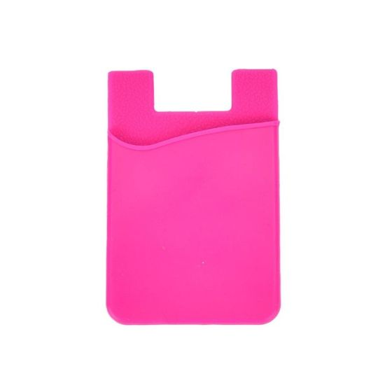 Top Quality Reusable Silicone Card Holder with Suction Cup Pocket