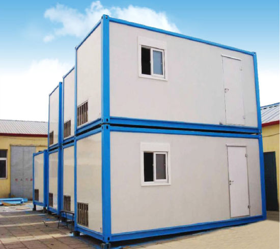 China Simple House PU Panel Steel Frame House Folding Container ...