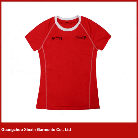 Quick Dry Dri Fit Running Red Sports Shirts for Women (R96)