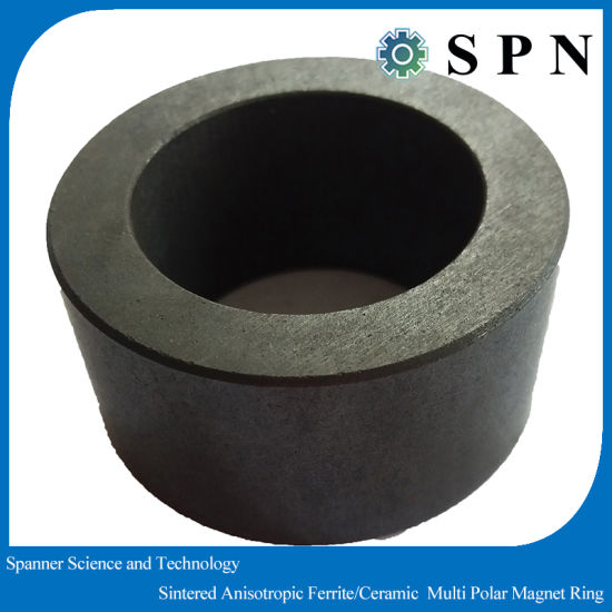 Permanent Ferrite Sintered Wet Press Multipole Magnet Rings for Industry Motors pictures & photos
