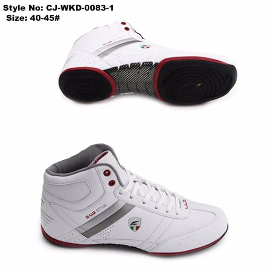 High-Top Men Basketball Sneakers, EVA Lace up Basketball Shoes
