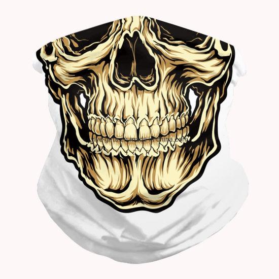 Best Selling Motorcycle Tubes Black Skull Custom Face Mask Bandana