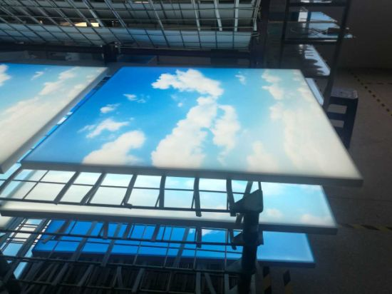 China ra90 blueskywhite clouds frameless led sky ceiling panel ra90 blueskywhite clouds frameless led sky ceiling panel light for home use mozeypictures Images