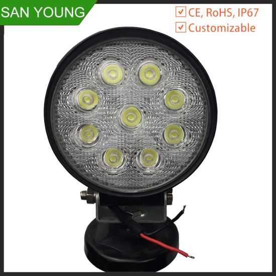 LED Work Light 27W 4 Inch for Truck Forklift Car 1.85USD pictures & photos