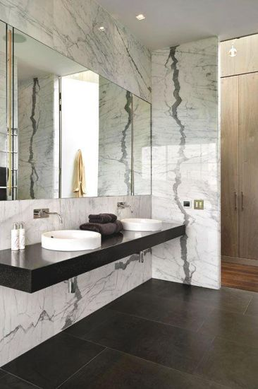 Light Grey Marble Bathroom PVC Wall Panel