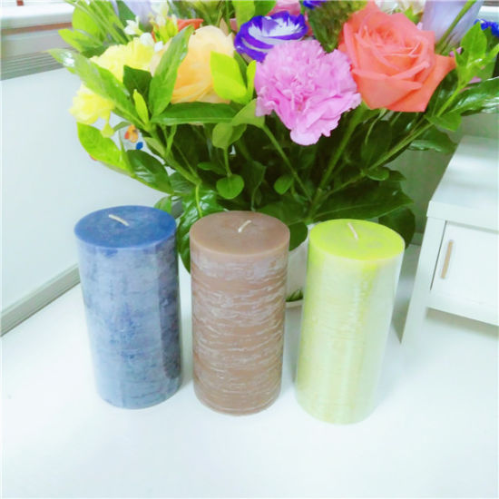 China Best Material Scented Pillar Candle