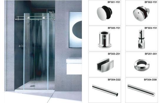 China Customized Sliding Glass Shower Door Hardware For Decoration